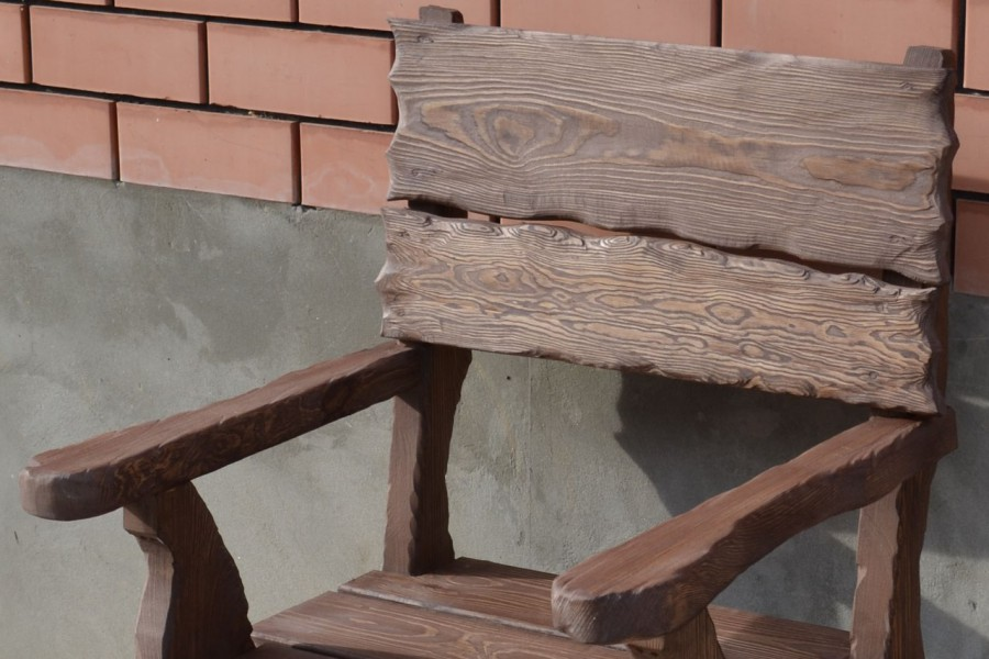Новости - Кресло под старину - Мебель из дерева садовая, для бани