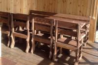 Садовая мебель, стол, скамейка, кресла