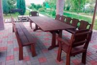 Мебель для дачи и бани из дерева