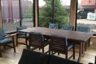 Обеденный деревянный стол для беседки