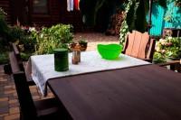 Садовая мебель из дерева, цвет палисандр