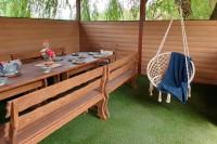 Деревянный стол, скамейки, кресла для беседки и террасы