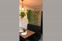 Шпалера-перегородка деревянная для кафе в Краснодаре