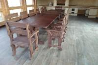 Набор деревянной мебели для беседки