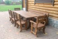 Садовая мебель из дерева, стол, кресла, скамейка, фото покупателей