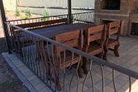 Деревянная мебель для беседки, Аксай