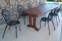 Стол из массива дерева, цвет палисандр