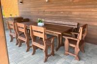 Садовая мебель из массива, цвет орех