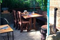Фотография покупателей из Новодмитриевской, стол 1,5 м + 3 стула, цвет палисандр