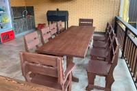 Мебель из дерева для беседки, цвет палисадр
