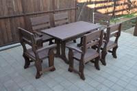Садовый стол и кресла из массива дерева, цвет палисандр