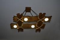 Светильник из дерева в стиле кантри, рустик, цвет орех