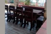 Мебель для дачи, кафе, бани из массива дерева, цвет палисандр