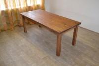 Обеденный стол из массива лиственницы, цвет орех