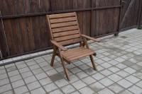 Кресло шезлонг для бани, цвет орех