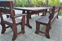 Садовая мебель из дерева, цвет орех