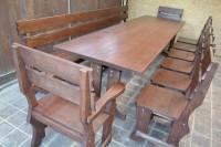 Садовая деревянная мебель Шале, цвет палисандр