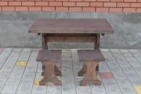 Стол и 2 табурета для бани