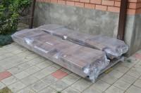 Садовая мебель, стол и 2 скамейки в разобранном виде