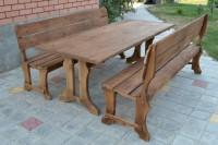 Садовая мебель, стол и 2 скамейки в собранном виде