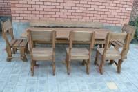 Садовая мебель из дерева: столы, стулья, скамейки