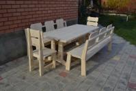 Мебель для бани, стол, скамейки, стулья из дерева