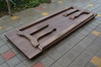 Садовый стол из дерева ШАЛЕ 2,5 метра в разобранном виде