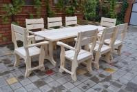 Мебель для бани из сосны, стол и кресла