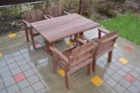 Садовая мебель из дерева, стол и 4 кресла