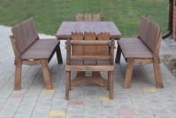 Мебель для бани из дерева, стол, скамейки, кресла