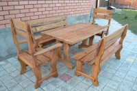 Деревянная мебель для сада и дачи, цвет тик