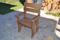 Садовое кресло из дерева, цвет орех