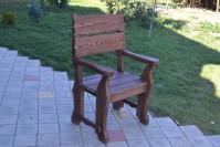 Деревянное кресло для сада и дачи, цвет палисандр