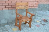 Кресло из дерева для кафе, бара, ресторана, цвет тик