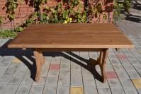 Садовый стол из дерева, цвет орех
