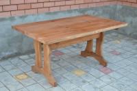 Деревянный стол для сада и дачи, цвет тик