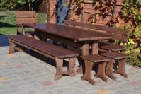 Садовая мебель из дерева, стол, скамейка, лавочка, кресло, табуреты