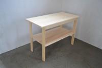 Пристенный стол консоль из дерева