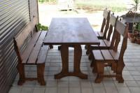 Мебель для дачи и бани из дерева, стол, скамейка, стулья