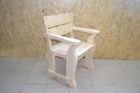 Кресло для бани и дачи из дерева