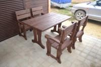 Мебель для бани из дерева, стол и кресла
