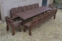 Мебель для бани, сада, дачи из дерева, стол, скамейки, кресла