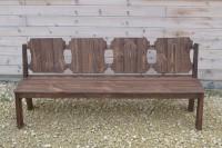 Скамейка из дерева для дачи, сада, бани