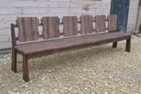 Садовая скамейка из дерева на 6 человек длиной 3 метра