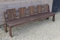 Скамейка для сада и дачи деревянная на 5 человек длиной 2,5 метра