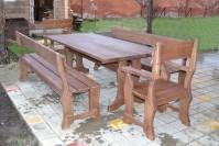 Мебель из дерева садовая, стол, скамейки, кресла