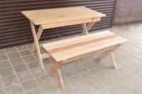 Мебель для бани и сауны из массива липы: стол и лавочка