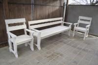 Деревянный диван и кресла для бани и дачи