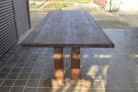 Стол из дерева садовый, цвет орех