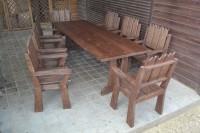 Стол и кресла для дачи и сада деревянные